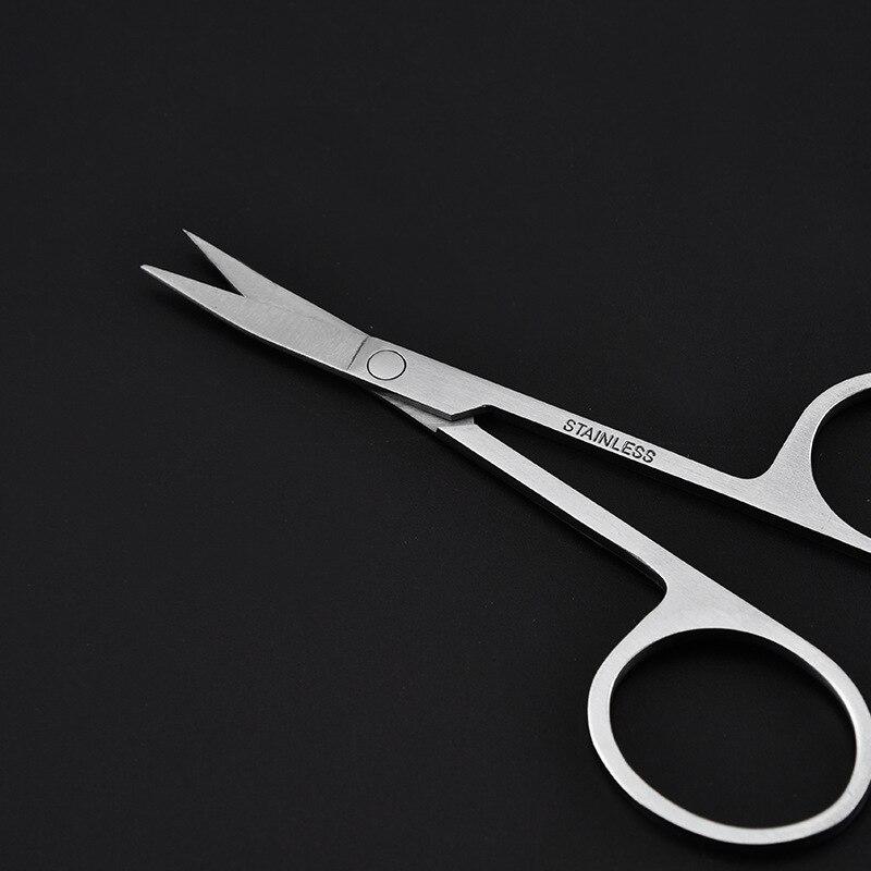 1pcs Stainless Steel Eyebrow Scissors Portable Eyebrow Trimmer Dead Skin Scissors Shear Beauty Tool Easy To Carry in Eyebrow Trimmer from Beauty Health