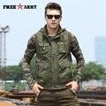 Autumn Multi-pockets Vest Men New Waistcoats Vests Singlet Fitness Muscle Men Vest Stand Collar Zipper Sleeveless Coats MS-6080A