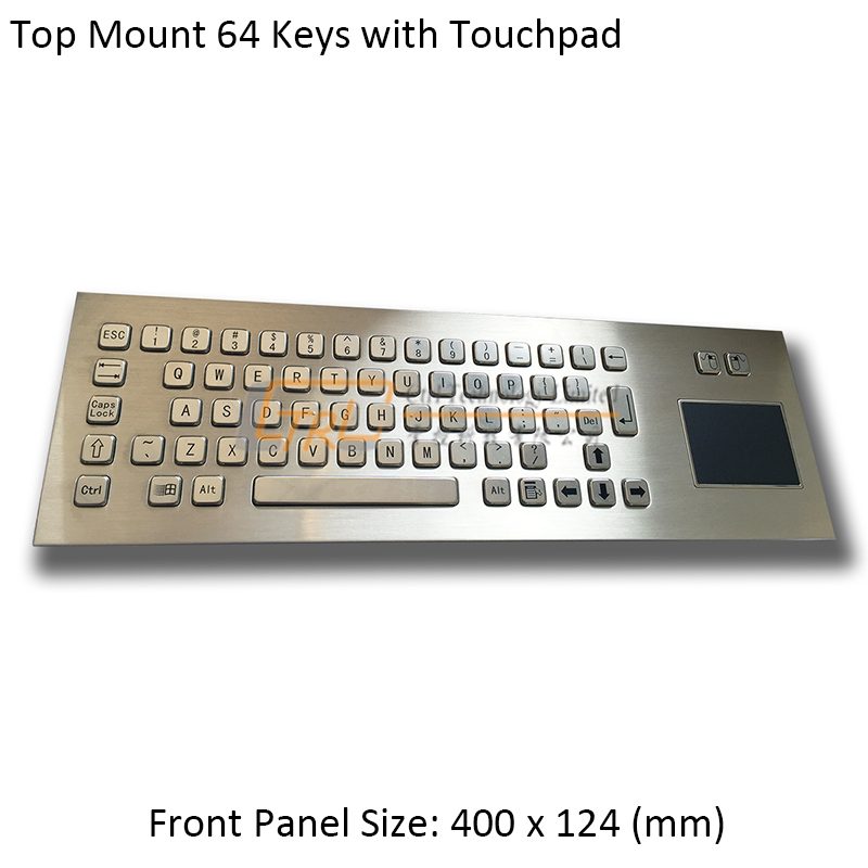 precio gran venta hermoso estilo € 110.06 |Teclado de Panel superior de 64 teclas con almohadilla táctil,  teclado de trackpad metálico, teclado de kiosco con almohadilla táctil-in  ...