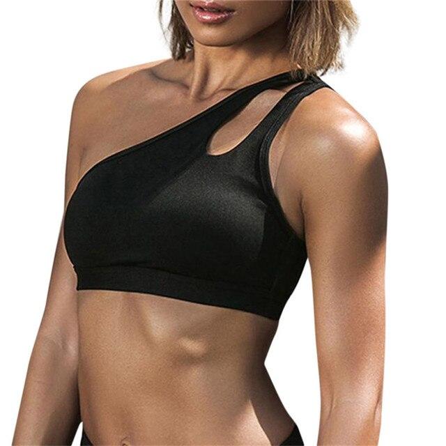 Quick Dry Sports Bra Fitness Underwear Women Seamless Padded Gym Fitness Top