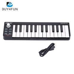 Портативная мини-клавиатура Easy key 25, 25-клавишный USB MIDI контроллер, аксессуары для электронных органов