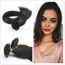 0.5g/s Brazilian Nail Tip Hair Extension Keratin U Tip Fusion Human Hair Extension Pre bonded Straight Virgin Hair
