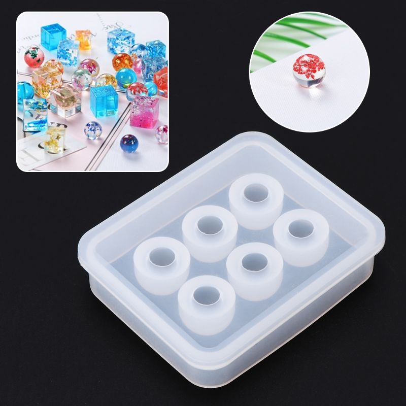 Silicone Mold 12mm Ball 3D DIY Jewelry Necklace Pendant Making Tools Epoxy Resin Crafts Cake Fondant Decoration Molds Handmade G