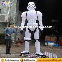 10 feets tall Best quality giant inflatable robot cartoon / white inflatable cartoon robot for advertising