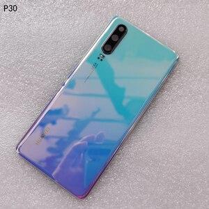 Image 4 - חדש מקורי מזג זכוכית כיסוי אחורי עבור Huawei P30 חילוף חלקי חזור סוללה כיסוי דלת שיכון + מצלמה מסגרת