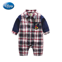 Disney 2017 Newborn Baby Rompers Cartoon Cute Long Rompers Cotton Mickey Minnie Mouse Jumpsuit Male Boy