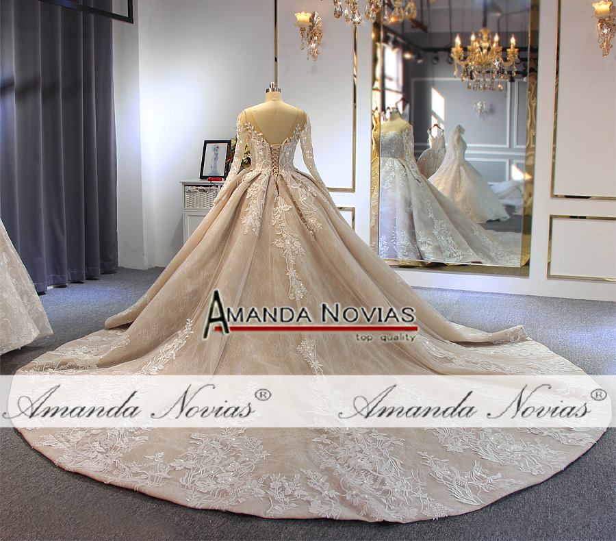 Image 4 - 2019 robe de soiree wedding dress amanda novias brand high quality luxury bridal dress custom made colorWedding Dresses   -