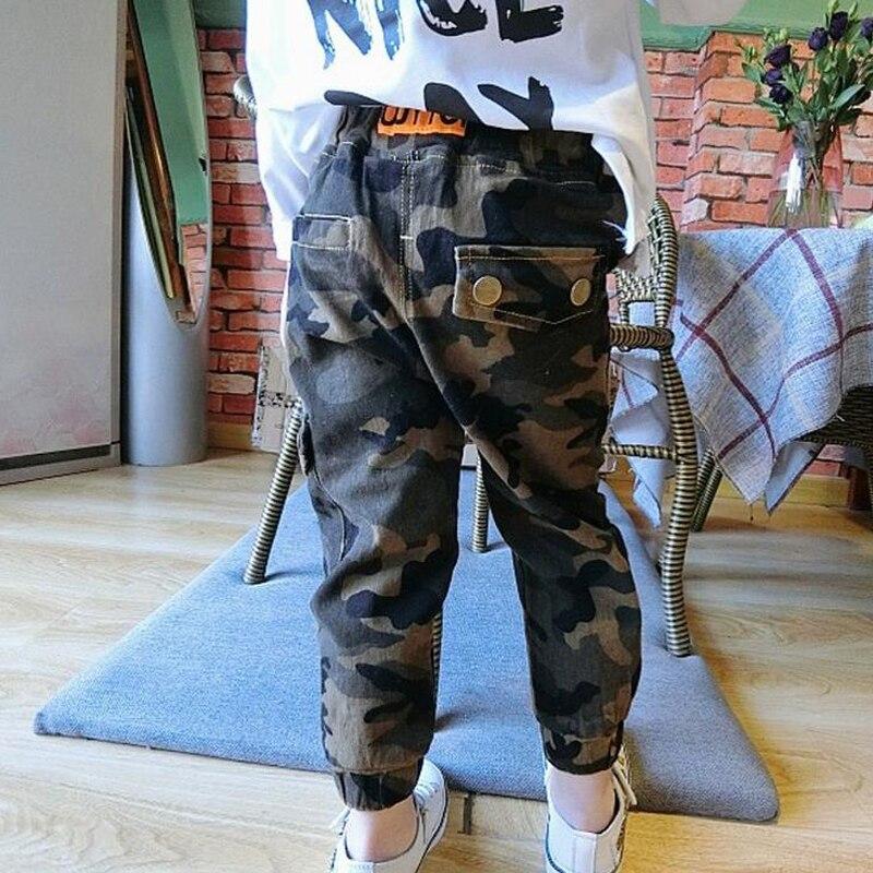 Neue Baumwolle Kinder Cargohosen Jungen Camouflage Hosen Kinder Kind - Kinderkleidung - Foto 3