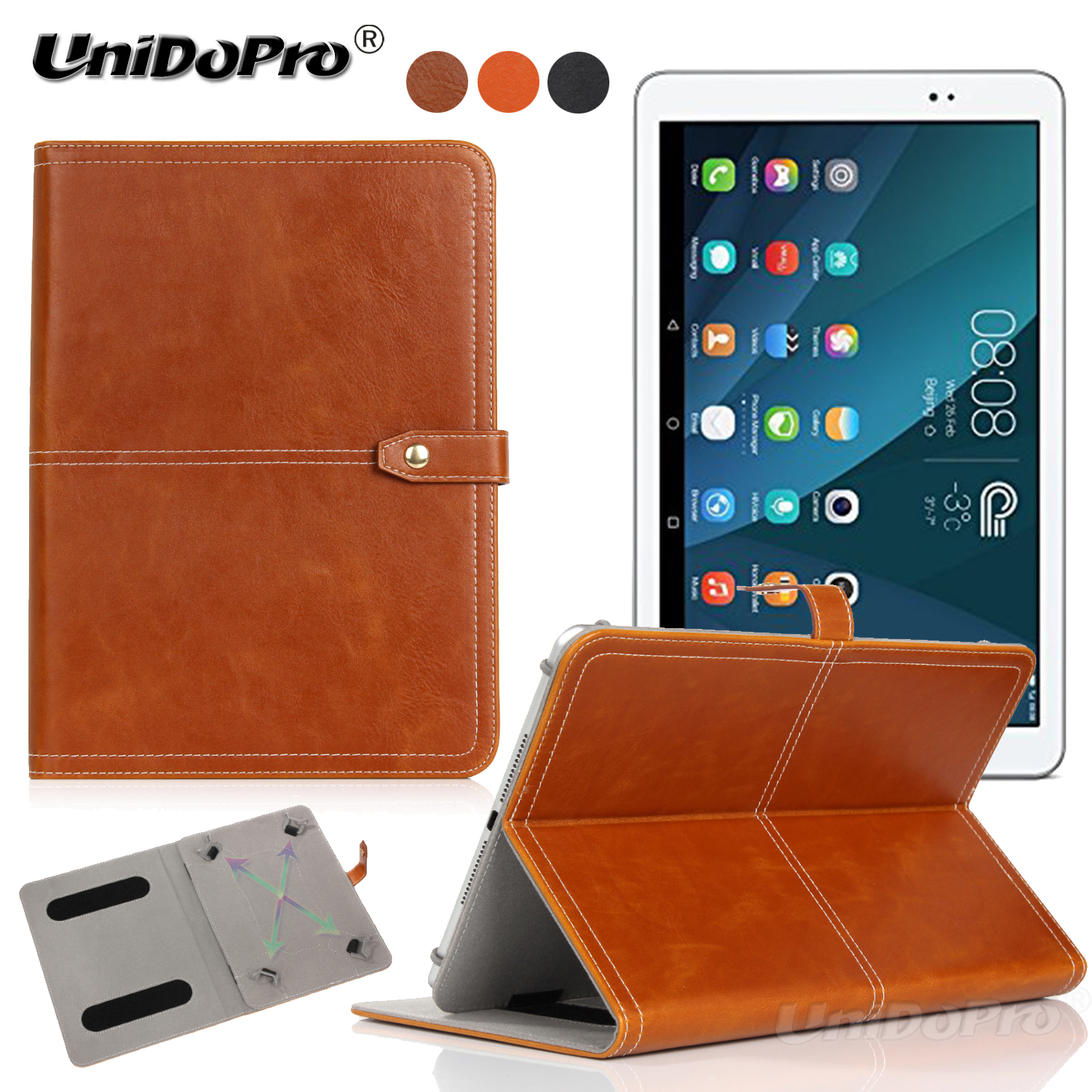 Unidopro Shockproof PU Leather Protector Folio Case for Xiaomi Mi Pad 3 2 7.9 Tablet des Cas de w/ Multi-angle Stand Cover