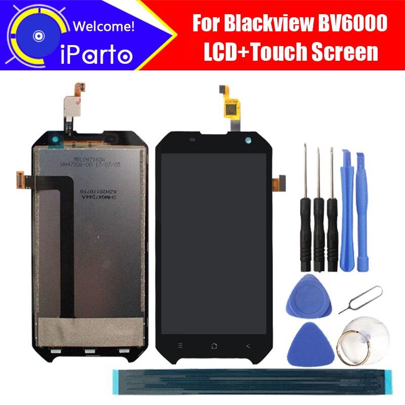 Blackview BV6000 LCD Display + Écran Tactile 100% Original Nouveau Testé Digitizer Panneau de Verre de Remplacement Pour BV6000 + Outils + adhésif