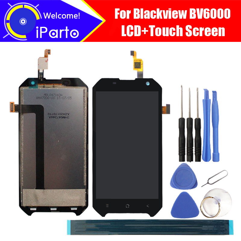 Blackview BV6000 LCD Display+Touch Screen 100% Original New Tested Digitizer Glass Panel Replacement For BV6000 +Tools+Adhesive