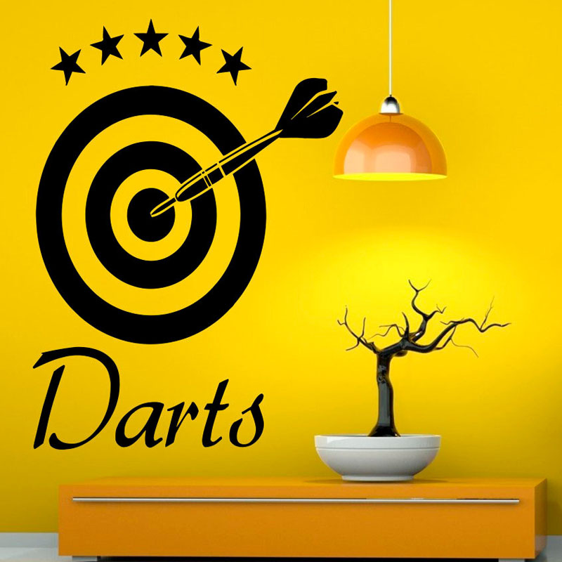 DCTOP Darts Wall Decal Home Sticker Target Sports Removable Vinyl Wall  Stickers For Living Room Decor