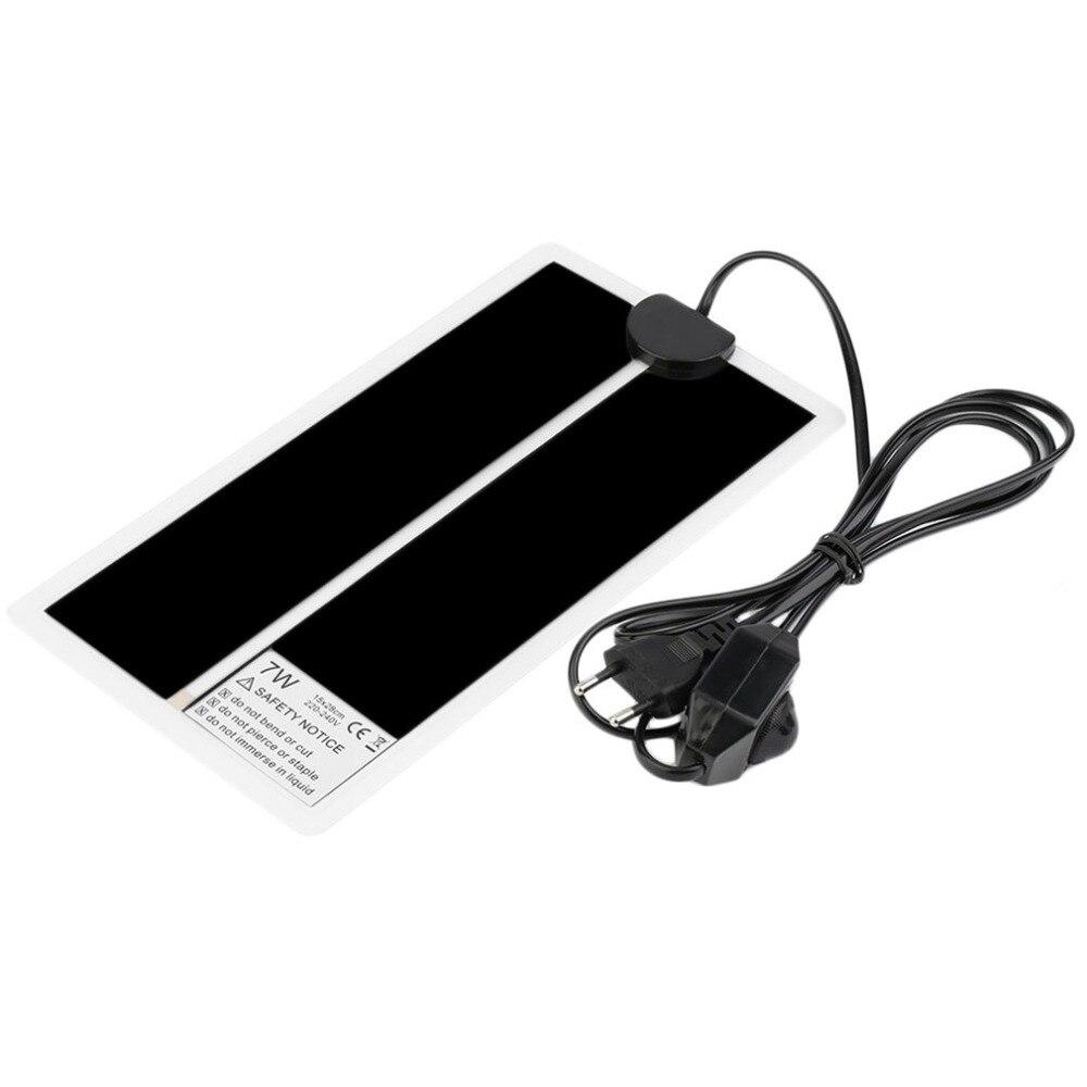 EU Plug 7W Pet Heat Mat Adjustable Temperature Reptile Heating Heater Mat Pet Heating Pad Electric Blanket Warmer 15 x 28cm