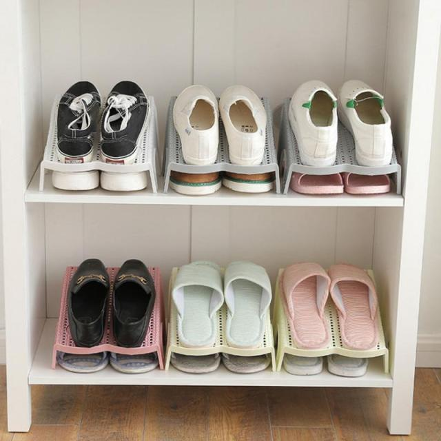 Household Double Row Shoes Holder Home Shoe Rack Storage Shelf Closet Organizer Cabinet 2