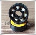 74L-24 Free shipping Pro Blacken Hybrid Ceramic 608 Bearing for Speed Racing Inline Skate Skateboard Longboard ABEC-7 ZrO2 balls
