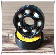 74L 24 Free shipping Pro Blacken Hybrid Ceramic 608 Bearing for Speed Racing Inline Skate Skateboard