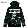 Raisevern New Mens Hoodie 3D Hip Hop Star 2Pac Tupac American Gangster Rap Sweatshirts Hoodies Tupac Shakur Hooded Pullover Tops