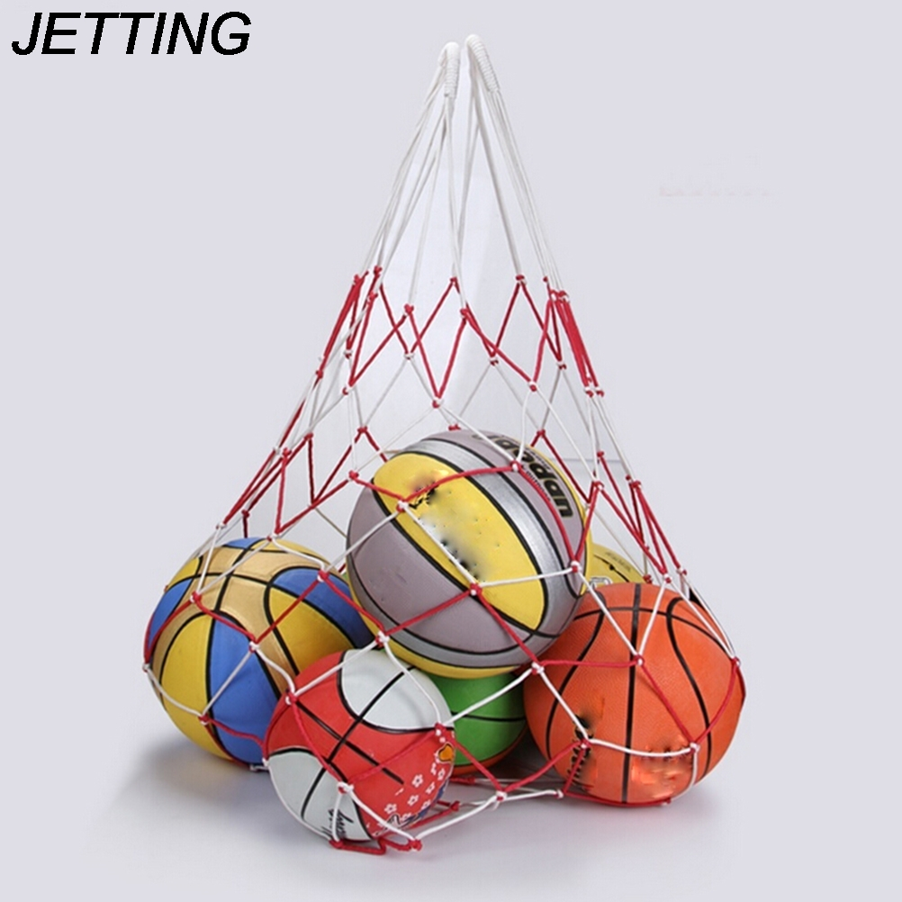 HOT  1 X  120cm 10 Balls Carry Bag Sports Portable Balls Volleyball Standard Nylon Thread Soccer Basketball Hoop Mesh Net