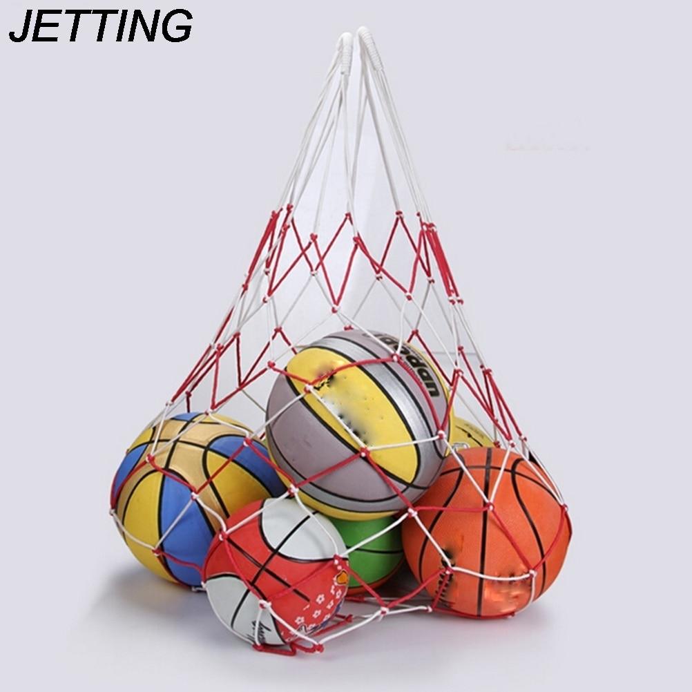 HOT  1 X  120cm 10 Balls Carry Bag Sports Portable Balls Volleyball Standard Nylon Thread Soccer Basketball Hoop Mesh Net