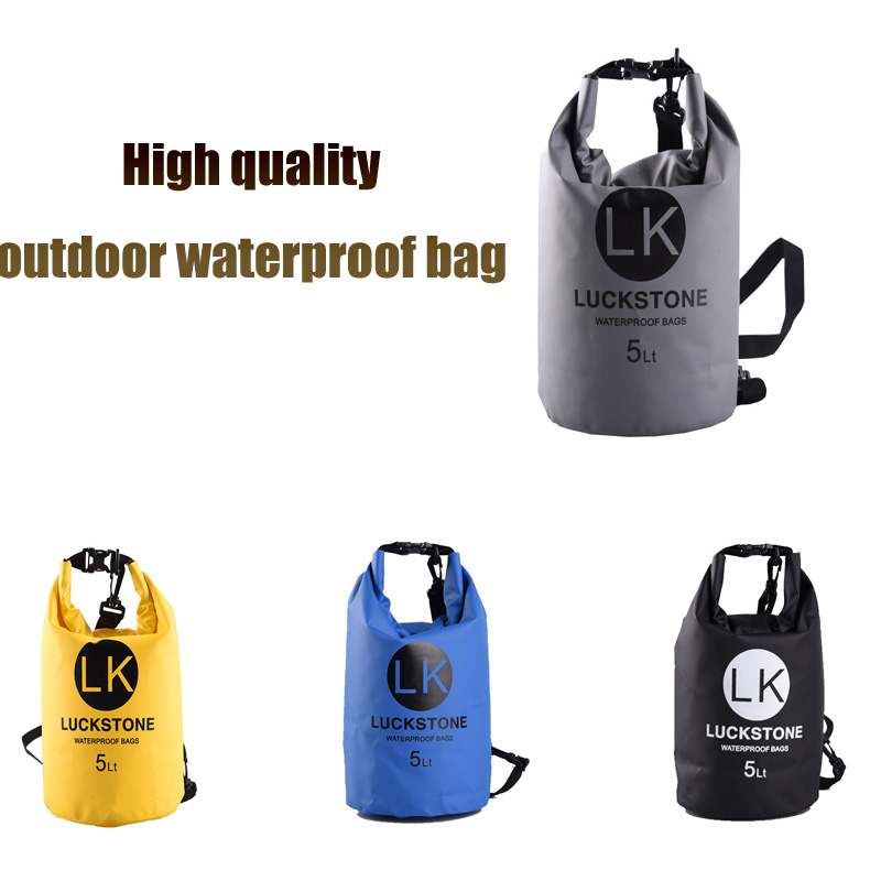 Outdoor 5L Ultra-Light Waterproof Swimming Bag Drifting Canoe Swimming PVC Dry Bag Storage Travel Camping on Foot
