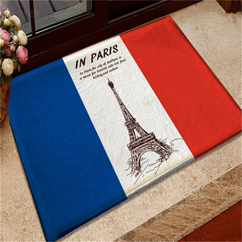 2017 Fashion 40*60CM Soft Home Textile British American Flag Anti Slip  Chair Pad Cushions