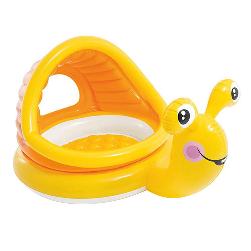 Super Fun Snail Shaped Baby Swimming Pool Float Cartoon Inflatable Snail Swimming Ring For Kids Toddles 2019 Summer NEW Style