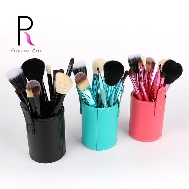 12 unids Profesional Pincel de Maquillaje Cepillos Kit Pincel Maquiagem Pinceis Brochas maquillaje Pinceau Maquillage + Portaescobillas