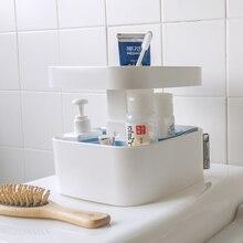 Творческих макияж коробка для хранения дома туалетные принадлежности стол органайзер для косметики
