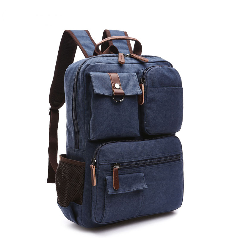 NEW fashion men backpack canvas student bags male backpacks High capacity Travel bag Business Laptop bag High quality magic union men s patent leather backpacks high quality bags fashion bag for men business travel mochila zip men laptop backpack