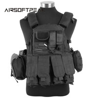 Tactical Army Military Accessory Hunting Wargame CS 1000D Tactical Molle LBT 6094 Vest Outdoor Combat Hunting
