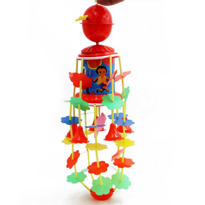 เด็กทารกใหม่ Clockwork Wind - up รถเข็นเด็กแขวนหมุน Wind Chimes Rattles Bell เด็กแรกเกิดเนอสเซอรี่ตกแต่ง
