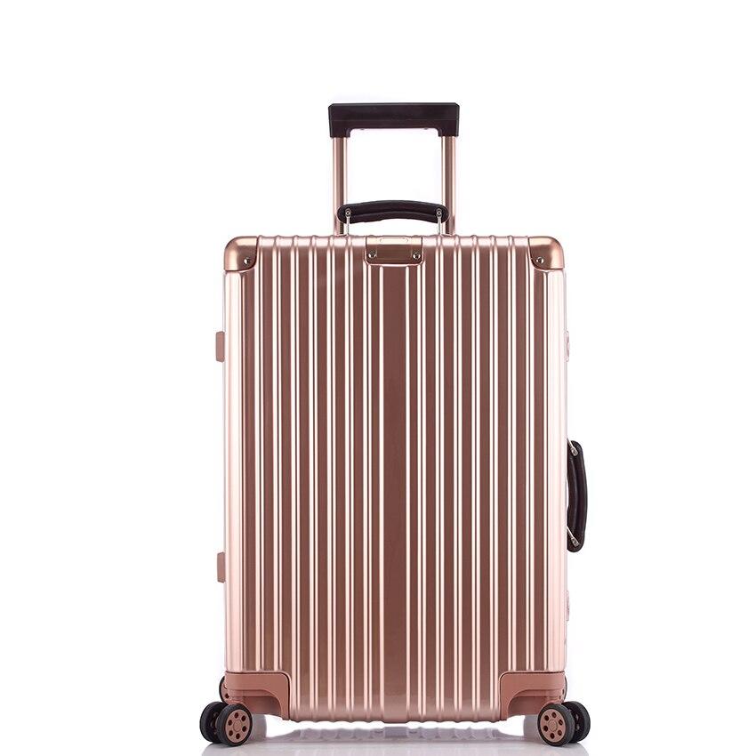 Sinderemore 20242628 fashion mirror side Vintage Rolling hardside luggage travel suitcase with wheels Custom laser engraving