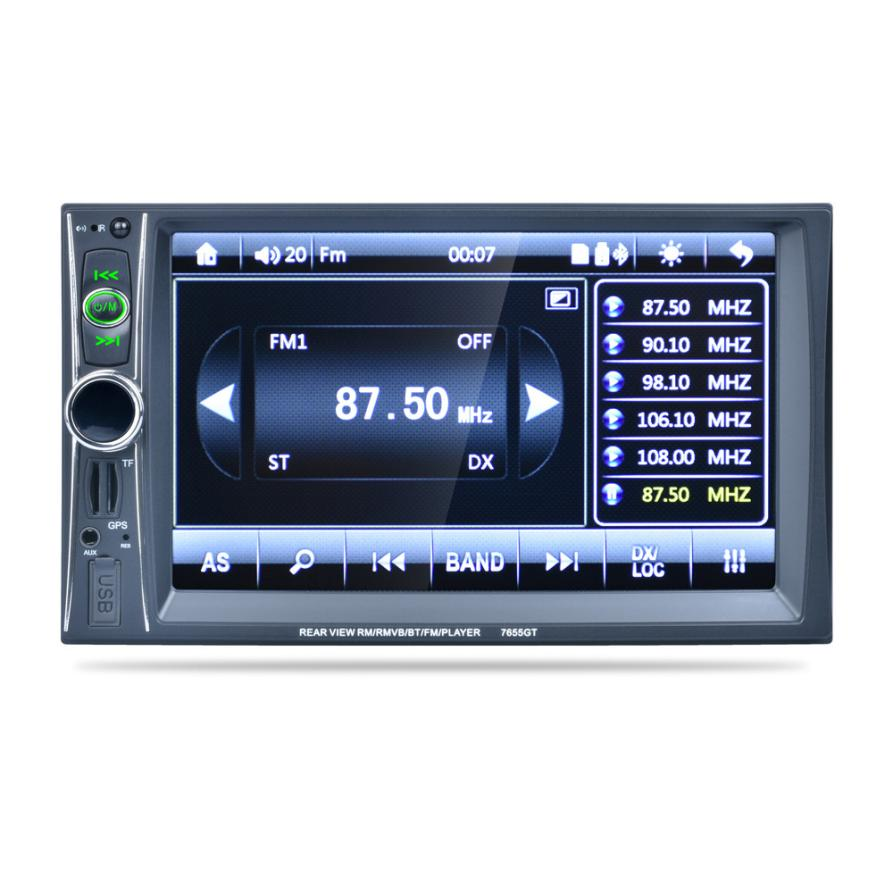 7 Double 2 Din Touchscreen In Dash GPS Car Stereo Radio Mp3 Player FM Aux Janu 9 niorfnio portable 0 6w fm transmitter mp3 broadcast radio transmitter for car meeting tour guide y4409b