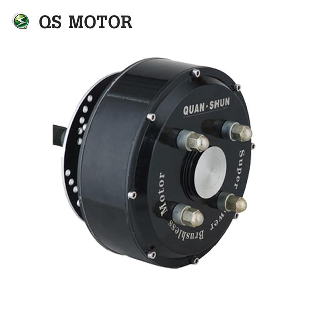 Qs Motor 1000w 3000w 205 Brushless Dc Electric Car Singhle Shaft Wheel Hub