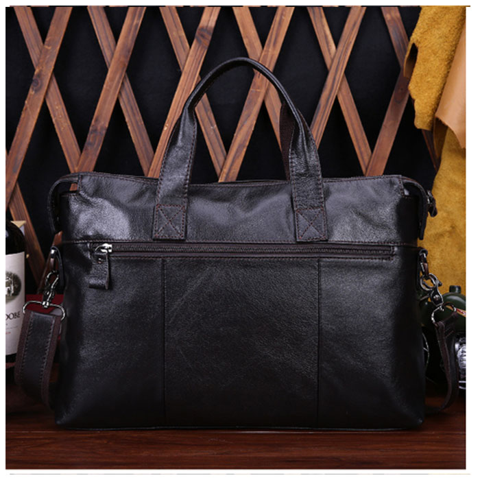 Genuine Leather Laptop Bag Men Totes Casual Man Messenger Bags Natural Leather Business Briefcase Handbag Crossbody Bag brown genuine leather men bags messenger bag leather man shoulder crossbody mens bag business laptop briefcase men handbag laptop bags