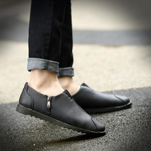 New Fashion Men Shoes British Genuine Leather Driving Shoes Comfortable Breathable Loafers Casual Men Shoes P83