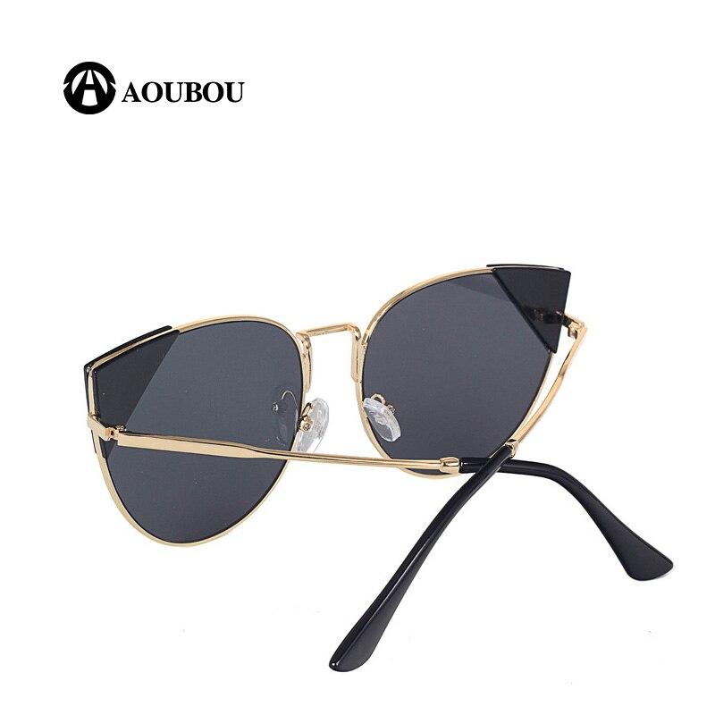 AOUBOU mode lunettes de soleil yeux de chat femmes marque Designer - Accessoires pour vêtements - Photo 4