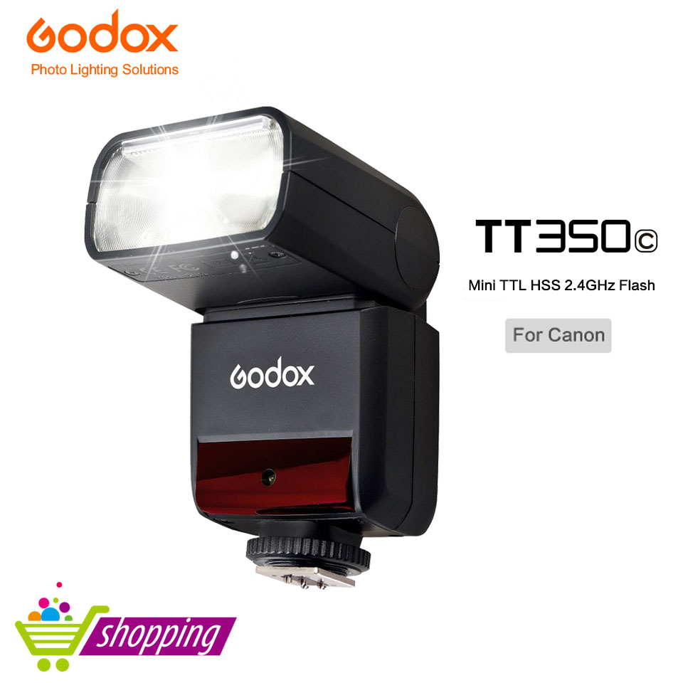 Godox TT350C 2.4G 1/8000s TTL GN36 Wireless Speedlite Flash light for Canon 5D Mark III 80D 7D 760D 60D 600D 30D 100D 1100D 1DX m42 chip adapter af iii confirmation ring for canon eos ef 60d 550d 7d 5d 1100d