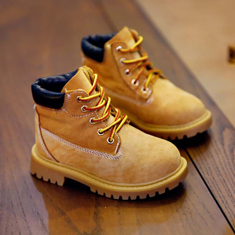 BBK baby shoes the Martin boots kids leather Sneakers Sport Shoes Children 2016 boys boots warm Fashion casual shoes girls kids