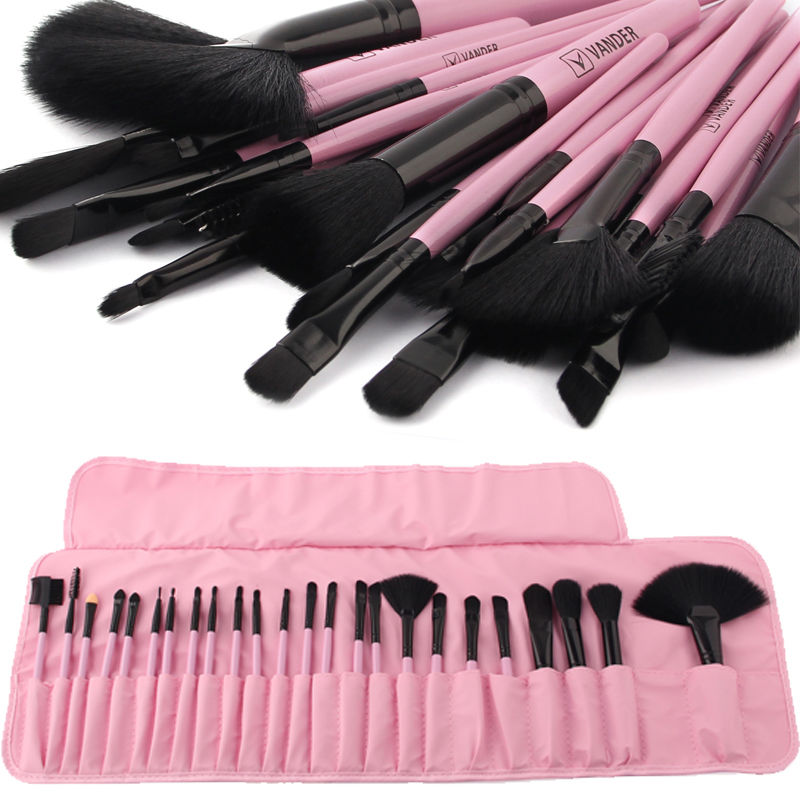 VANDER Professional 24Pcs Makeup Brushes Set Cosmetic Kits Makeup Brushes & Tools Makeup Brush + Pouch Bag Pincel Maquiagem Gift 24 pcs professional makeup brushes beauty woman s kabuki cosmetic makeup brush set tools foundation brush pincel de maquiagem
