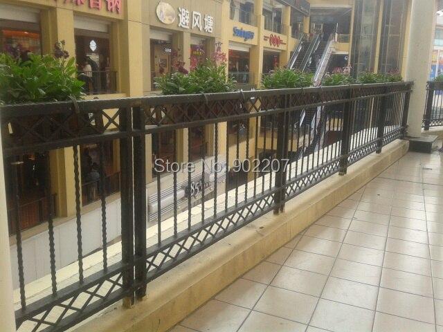 balcn de hierro forjado de encargo de la cubierta porche pasamanos de la escalera pasamanos