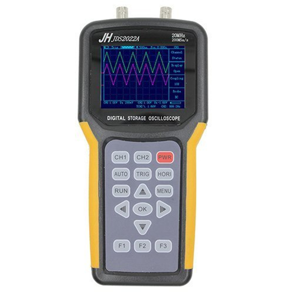 Jinhan JDS2022A Double-channel handheld Digital oscilloscope 20MHz Bandwidth 200MSa/s Sample Rate,automotive oscilloscope цена