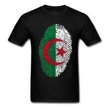 Geek Algeria Flag Fingerprint Tees Shirt Men Man White Short Sleeve Custom XXXL Group Tshirt