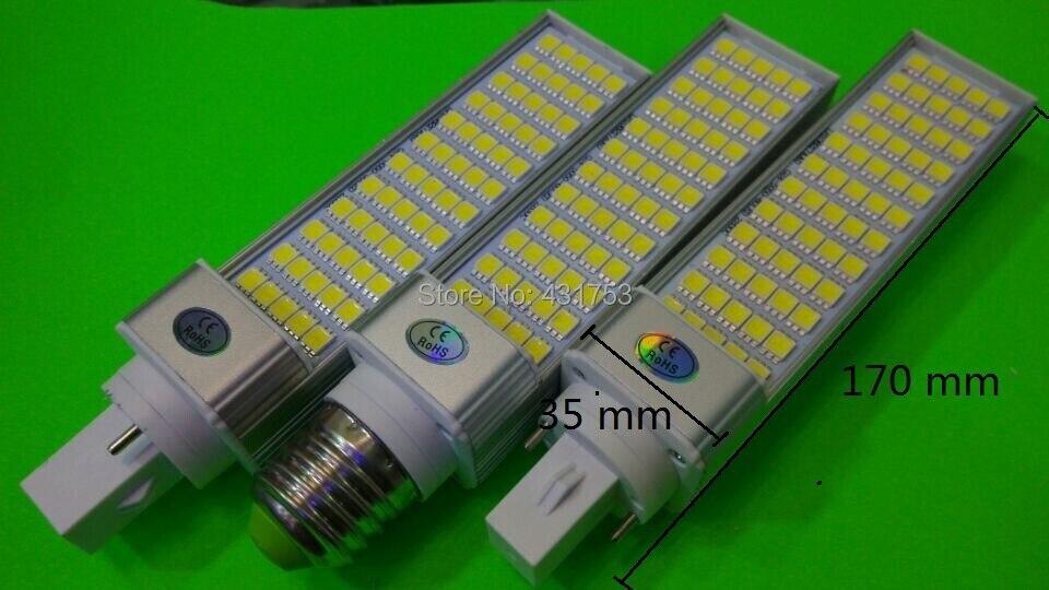 10pcs/lot E27 G24 G23 PL LED Lamp 12W SMD5050 60 Leds Chips downlight light bulb bombillas 110V/220V Warm White/White High Power
