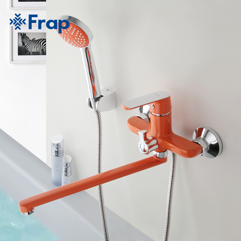 Frap Multi-Color Fixer Faucets Home Bathroom Faucet Basin Mixer Tap Cold-Hot Water Taps Brass Chrome Handle Robinet Torneiras frap double handle bathroom mixer 30cm