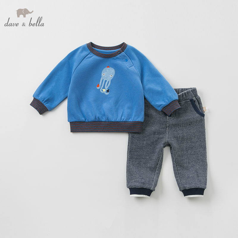 DB10171 dave bella spring baby boys fashion print sets kids long sleeve clothing sets children 2 pcs suitDB10171 dave bella spring baby boys fashion print sets kids long sleeve clothing sets children 2 pcs suit