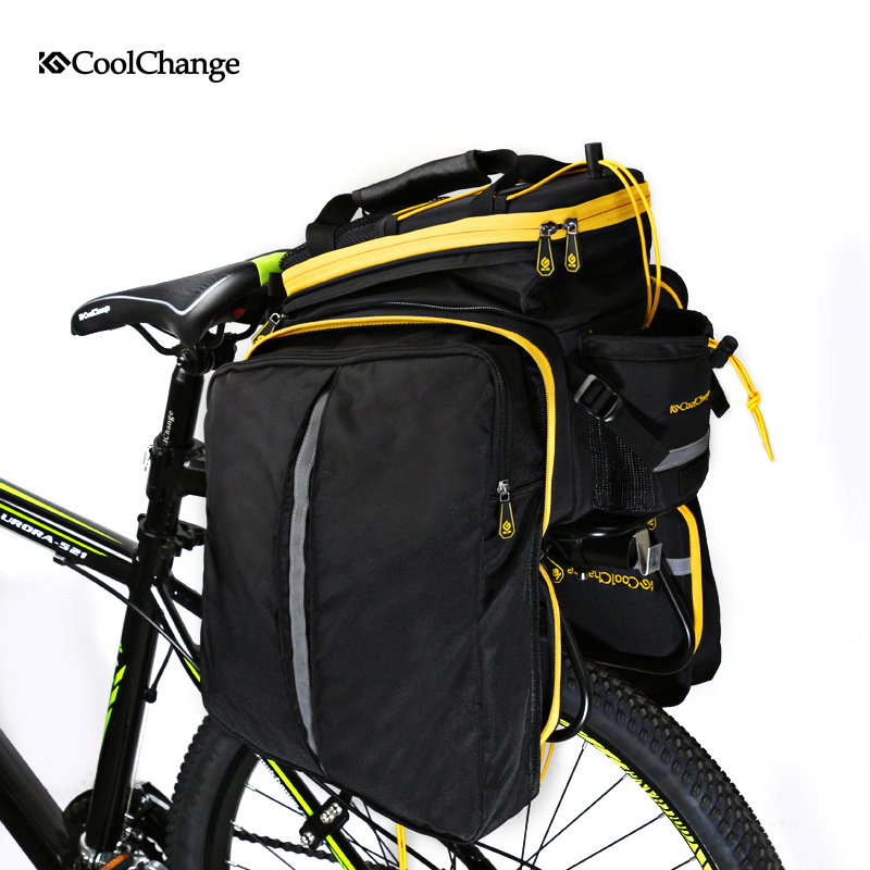 Image 4 - CoolChange Bicycle Rack Bag Reflective Bicycle Rear Seat Luggage 