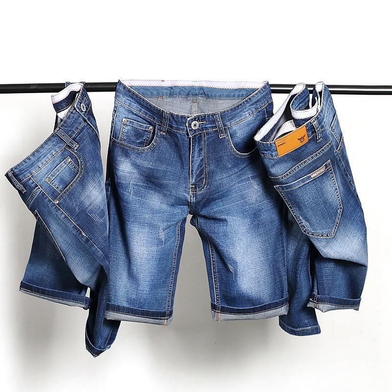 Brand Mens Jeans Shorts Plus Size Straight Thin Denim Shorts for Men Pants 2017 Size 28 30 32 34 36 38 40 Man Clothes RMP174005