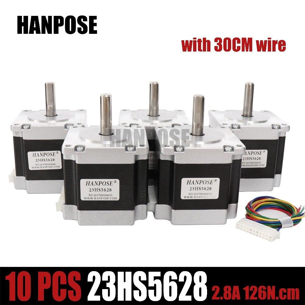10PCS 23HS5628 4 lead Nema 23 Stepper Motor 57 motor NEMA23 Stepper Motor 2 8A ISO