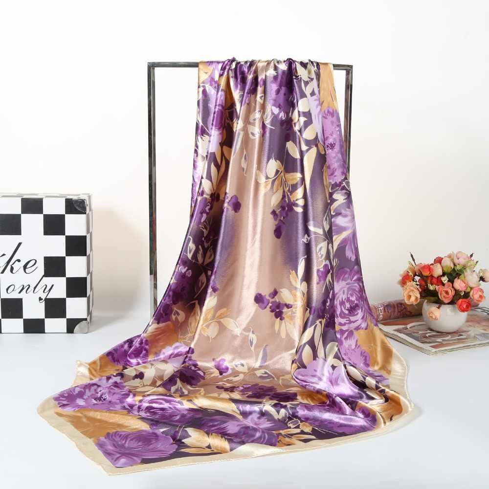 Italia fresco indumento in tessuto di seta stampa digitale raso di seta tessuti di larghezza 90 centimetri * 90 centimetri HGF02
